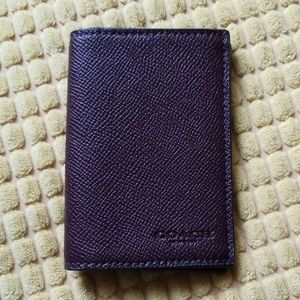 NWT Coach Bifold Card Case / Wallet